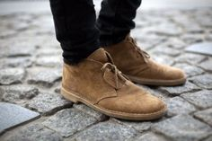OG Clarks with the tag on.
