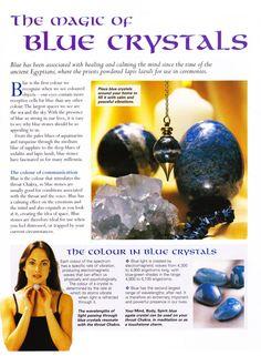 Crystals Stones:  MBSC #Crystals ~ The Magic of Blue Crystals.