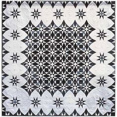 Stormy Evolution, 90 x by Susan Varanka -- another Storm at Sea quilt Black And White Quilts, Black Quilt, Black White, Star Quilts, Quilt Blocks, Scrappy Quilts, Storm At Sea Quilt, Two Color Quilts, Homemade Quilts