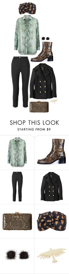 """""""Snake-print"""" by perpetto ❤ liked on Polyvore featuring Pierre Balmain, Topshop, Balmain, Jessica McClintock, Gucci and Maison Kitsuné"""