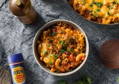 Grab the Mexene--it's feeling like a chili mac kind of day! Luckily this recipe only requires 15 minutes of prep! Leafy Salad, Chili Mac, Tomato And Cheese, Kidney Beans, Casserole Recipes, Macaroni, Curry, Meals, Dishes