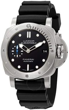 Panerai Watches, Men's Watches, Cool Watches, Watches For Men, Panerai Automatic, Panerai Luminor Submersible, Black Rubber, Stainless Steel Case, Michael Kors Watch