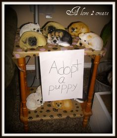So cute and a great way to teach kids to adopt! Puppy birthday party!