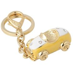 Yellow Gold Plate Sport Car Key Chain Fashion Jewelry Stores Online SKU-10810048