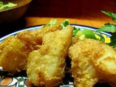 Almond flour beer battered fish - can use for fish tacos or just fish and chips