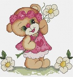1 million+ Stunning Free Images to Use Anywhere Baby Cross Stitch Patterns, Cute Cross Stitch, Cross Stitch Animals, Cross Stitch Kits, Cross Stitch Designs, Cross Stitching, Cross Stitch Embroidery, Embroidery Patterns, Broderie Simple