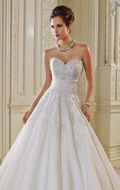 Embellished Sweetheart Gown by Sophia Tolli Y21434LS