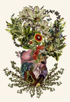 """""""indurare (endure)"""" anatomical heart collage art by bedelgeuse """"It is easier to find men who will volunteer to die, than to find those who are willing to endure pain with patience."""" -Julius Caesar"""