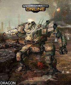 mechwarrior online dragon robot