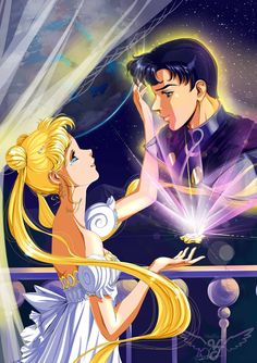 Serenity and Endymion. (Sailor Moon) by Vladta on DeviantArt Sailor Moom, Arte Sailor Moon, Sailor Moon Stars, Sailor Moon Manga, Sailor Jupiter, Sailor Venus, Sailor Moon Drops, Sailor Moon Background, Sailor Moon Wallpaper