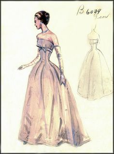 Vintage Fashion couture sketches | House Of Retro/Gary Alston makes no claim to the ownership of images ...