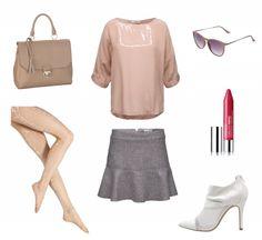 #Herbstoutfit Rosa Grau ♥ #outfit #Damenoutfit #outfitdestages #dresslove