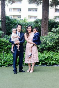 Family Fashion For A Spring Wedding