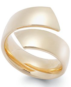 Polished Bypass Ring in 14k Gold - Rings - Jewelry & Watches - Macy's Size 7