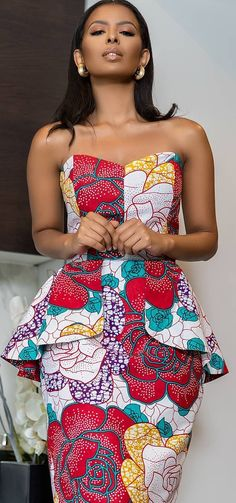Look no further, here's the complete 2018 Most Creative Ankara Styles And Designs African Dresses For Women, African Print Dresses, African Attire, African Wear, African Fashion Dresses, African Women, African Prints, African Outfits, African Clothes
