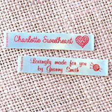 110 Sew-on labels    fox face