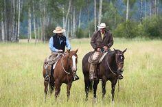 Buck Brannaman & Drew Mischianti, Jackson's Ranch, Libby, Montana, summer 2010