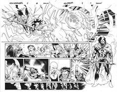 New Avengers spread by Stuart Immonen