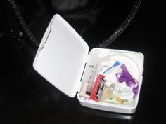 G-tube emergency kit! Love this the bandaid box instead of how I have it now.