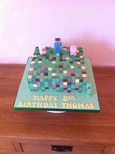 My latest cake.... Minecraft