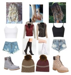 """""""You and your Best friends matching outfits"""" by babygirltaetae on Polyvore featuring Topshop, One Teaspoon, WithChic, LE3NO, Black Rivet, Timberland, Ann Taylor, DKNY, Samantha Holmes and women's clothing"""