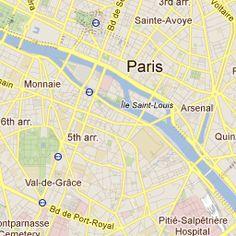 My Paris map...places to visit.