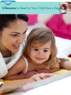 {5 Reasons to Read to Your Child Every Day} When do you read with your little one? Before bed? After daycare or school?