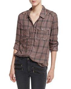 Paige Denim Mya Buffalo-Check Shirt