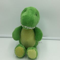 "Carters Alligator Crocodile Green Plush Soft Toy Stuffed 10"" Yellow 2016 Animal #Carters"