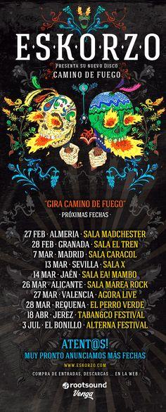 """Eskorzo - gira """"Camino de Fuego"""" en Alicante"""