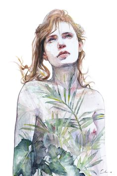 Breathe In, Breathe Out by Agnes Cecile - Fine Art Prints available in a variety of formats.