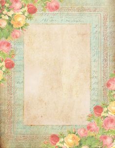 Roses & Summer Sky stationery plus more! Papel Vintage, Vintage Diy, Vintage Labels, Vintage Cards, Vintage Roses, Vintage Stuff, Free Printable Stationery, Printable Paper, Free Printables