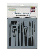Brushes -donna Downey Stencil,