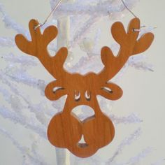 aries keychain scroll saw pattern | Christmas Reindeer Ornament