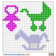 Fiesta de Bebes plantilla hama bead. Descarga una amplia gama de patrones en formato PDF en www.patroneshamabeads.com