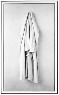 Sophie Calle, The Bathrobe, Still Life Photography, Fine Art Photography, Fabric Photography, Hanging Fabric, French Brands, Famous Art, Comme Des Garcons, Female Photographers, Black And White Pictures