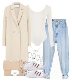 """""""Untitled #3283"""" by theeuropeancloset on Polyvore featuring Levi's, WearAll, Harris Wharf London, Jimmy Choo, adidas and Christian Dior"""