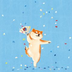 Ideas for illustration art background behance Shiba Inu, Cute Animal Drawings, Cute Drawings, Akita, Dog Illustration, Illustrations, Art Background, Dog Art, Cute Wallpapers