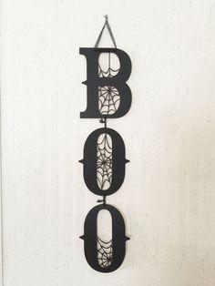 Custom/Personalized Boo Halloween Door by MemorablesBoutique