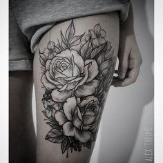 #tattoo #roses #rosetattoo #dotwork #linework #blackworkers #vladbladirons #vbiproteam #tabuns #alextabuns