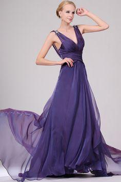 eDressit Sexy V-cut Beaded Evening Dress