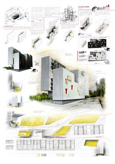 winners of the yac – post quake visions competition, Presentation templates