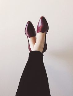 oxblood loafers