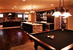 Black felt pool table