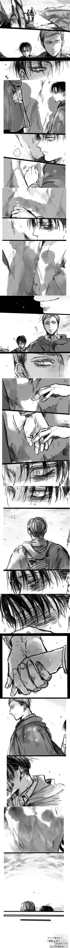 SnK Erwin x Levi by Hikapura on twitter. This speaks right out of my heart x)