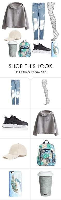 """""""Untitled #140"""" by arlem-cruz ❤ liked on Polyvore featuring Topshop, NIKE, WithChic, Collection XIIX, Vera Bradley and Fitz & Floyd"""