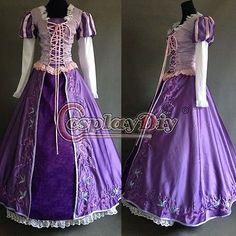Custom Made Exquisite Rapunzel Costume Dress Ball Gown Disney Cosplay Tangled Repunzel Costume Women, Tangled Costume, Adult Costumes, Costumes For Women, Halloween Costumes, Ball Dresses, Ball Gowns, Tangled Princess, Rapunzel Dress