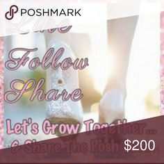Plz follow the new likes & re share listing 💞 Ty Let's help each other grow, Plz play by the Rules. 1) Follow Me  2) follow all the likes 3) plz very important share this listing with your followers. If you have any posh friends plz tag them so they can play as well. We will go back to follow all the new likes every so often I'll send reminder so don't worry you won't be missed. Thanks for all the Posh love & Support. :) Other