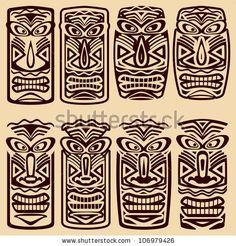 Vector Tiki Masks by Orgus88, via ShutterStock