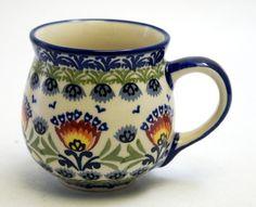 The Medium Belly Mug - Floral Fans